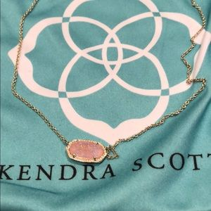 Kendra Scott pink druzy necklace❤️😍